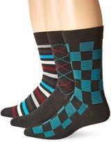 Hanes Men's 3-Pack Dress Casual Crew Flat Knit Socks