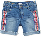 Epic Threads Tuxedo-Side Denim Shorts, Big Girls (7-16), Created for Macy's