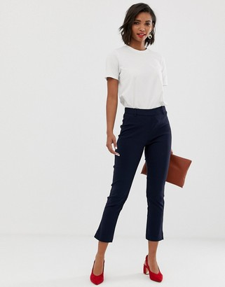 Y.A.S trousers with side zip detail in navy