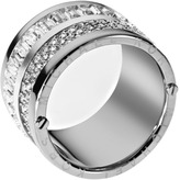 Michael Kors Pave Barrel Ring, Silver Color