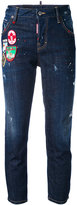 DSQUARED2 Cool Girl patch cropped jeans - women - Cotton/Polyester/Spandex/Elastane - 38