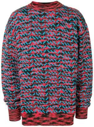 Calvin Klein patterned knit jumper