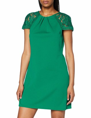 Dorothy Perkins Women's Green Lace Sleeve Shift Dress Casual 10