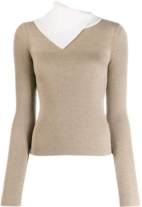 See by Chloe asymmetric layered sweater