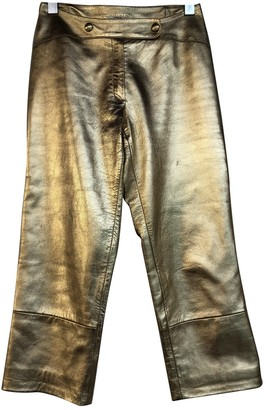 Jitrois Gold Leather Trousers