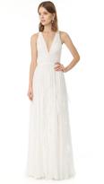 J. Mendel Ella Deep V Neck Gown