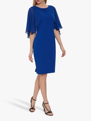 Gina Bacconi Otelia Crepe Chiffon Cape Dress