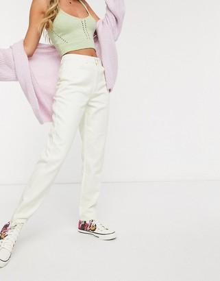 Daisy Street high waist mom jeans in stone