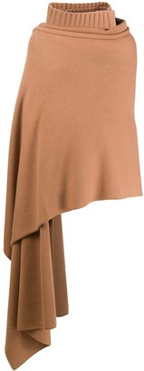 Joseph Draped Roll Neck Scarf