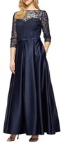 Alex Evenings Women's Embellished Lace & Satin Ballgown