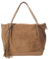 Italian Leather Suede Tote.