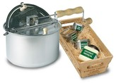 Wabash Valley Farms Whirley-Pop Original Stovetop Popcorn Popper with All-Natural Popping Ingredients - Silver/Multi