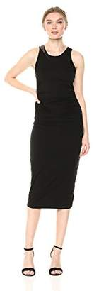 Enza Costa Women's Sheath Tank Side Ruch Midi Dress