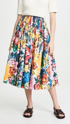 Marni Printed Flare Midi Skirt