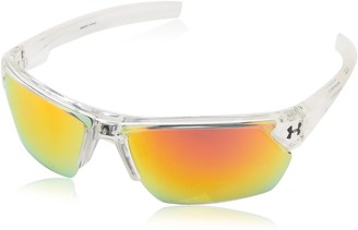 Under Armour Igniter 2.0 Shiny White Frame with Blue Interior & Rubber and Gray-Blue Multiflection Lens