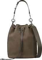 AllSaints Ray Nubuck Bucket Bag, Mink Grey