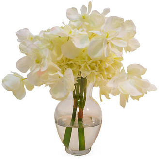"""11"""" Hydrangea in Bubble Neck Vase - Faux - The French Bee"""