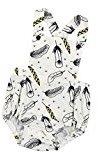 Fheaven Newborn Toddler Baby Girls Bodysuit Tassels Strap Romper Jumpsuit Outfit Clothes (18M, White 2)