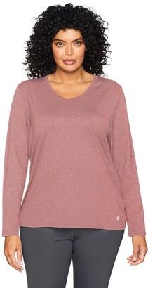Core 10 Amazon Brand Women's Fitted Run Tech Mesh Long Sleeve T-Shirt