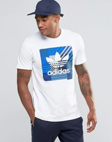 Adidas Originals Impo Check T-shirt In White Az1029