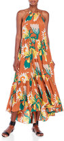 Tracy Reese Printed Halter Maxi Dress