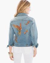 Chico's Collectibles Parrot Denim Jacket