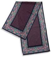 Etro Printed Silk & Cashmere Blend Scarf