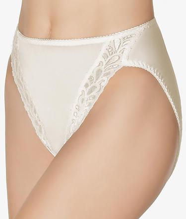 Wacoal Bodysuede Lace Leg Hi-Cut Brief Panty