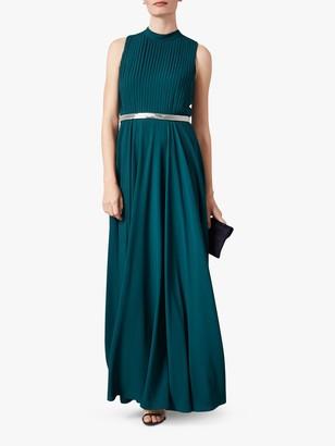 Phase Eight Nicola Embellished Belt Maxi Dress, Peacock Green