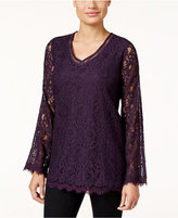 Style&Co. Style & Co Petite Lace Swing Top, Only at Macy's