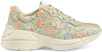 Gucci Women's Rhyton Liberty London sneaker