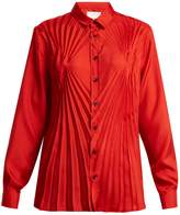 Maison Margiela Pleated satin blouse