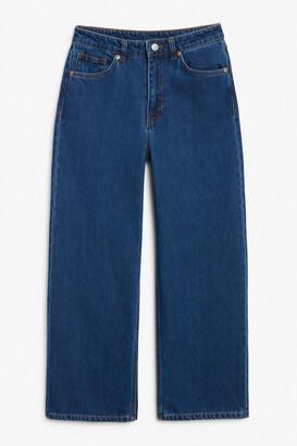Monki Mozik deep indigo jeans