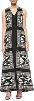 Alice + Olivia Angelica Geometric-Print Long Vest