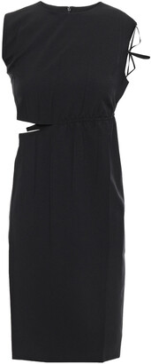 Helmut Lang Cutout Woven Mini Dress