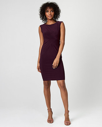 Le Château Knit Scoop Neck Sheath Dress