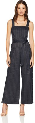 Rebecca Taylor Women's Sleeveless Striped Jumpsuit