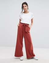 NATIVE YOUTH Wide Leg Pants With Tie Detail