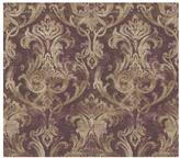 Chesapeake 8 in. x 10 in. Elsa Blackberry Ornate Damask Wallpaper Sample