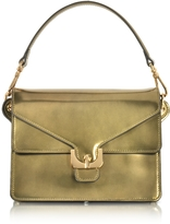 Coccinelle Ambrine Lux Gold Laminated Leather Satchel Bag