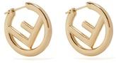 Fendi F is small hoop earrings