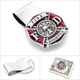 Cufflinks Enamel Firefighter Money Clip