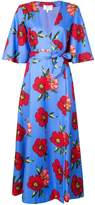 Rebecca De Ravenel floral print wrap dress multicolor