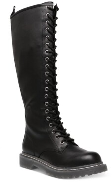 Wild Pair Rylee Combat Boots, Created for Macy's Women's Shoes