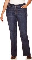 ST. JOHN'S BAY St. John's Bay Straight-Leg Jeans-Plus (31/29 Short)