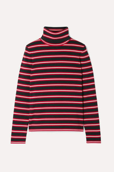 Moncler Genius - Grenoble Striped Stretch Wool-blend Turtleneck Top - Red