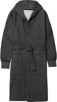 Reigning Champ - Mélange Fleece-back Cotton-blend Jersey Hooded Robe