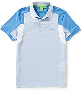 HUGO BOSS BOSS Green Paule Slim-Fit Plated Jersey Short-Sleeve Polo Shirt