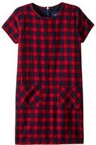 Toobydoo Red Flannel Shift Dress (Toddler/Little Kids/Big Kids)