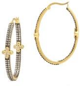 Freida Rothman Women's 'Metropolitan' Inside Out Hoop Earrings